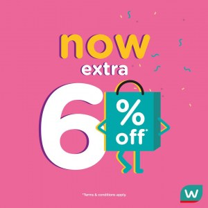 Up To 50% OFF Beauty & Health Products + Extra 6% OFF @ Watsons