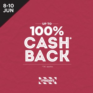 Chaswood 100% Cash Back - RM50 Voucher For Every RM50 Spent @ TGI.Fridays, Malones, Italiannies, Laundry