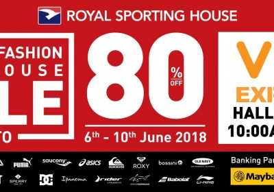 Royal Sporting House Mega Warehouse Sale June 2018