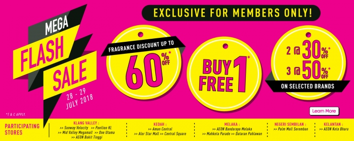 Sasa Members Exclusive Flash Sale - Up To 50% OFF