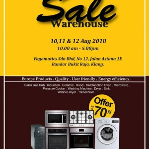 Fagor Warehouse Sale - Save Up To 70%