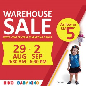 Kiko & Baby Kiko Warehouse Sale - As Low As RM5