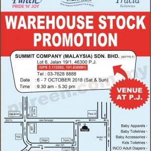 Pureen Warehouse Stock Promotion