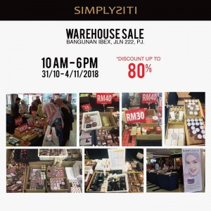 SIMPLYSITI Warehouse Sale - Up To 80% OFF