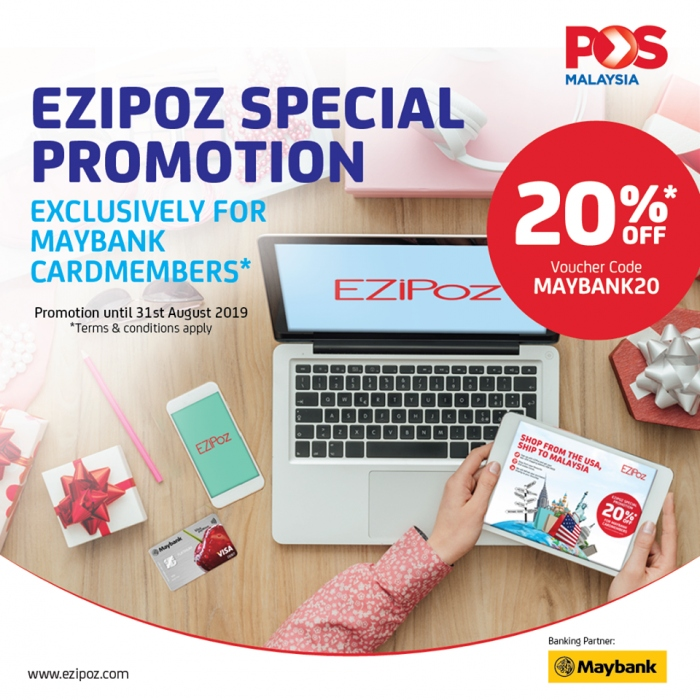 EZiPoz 20% Discounts Special Promotion for Maybank Cardmembers