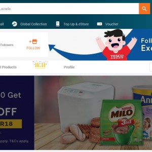 Get 12% OFF When You Spend RM150 or More In Tesco Store @ Lazada / Shopee