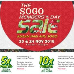 The Sogo Members Sale / Jualan Hari Ahli Sogo