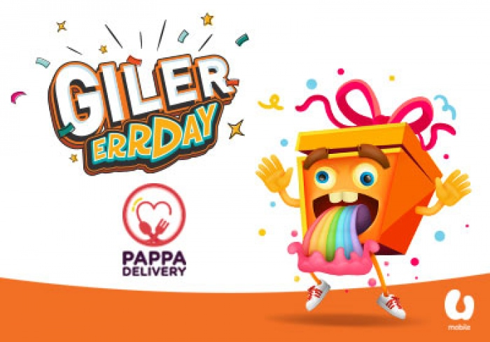 U Mobile's Giler Errday deal with 10% off Pappa Delivery noodle series