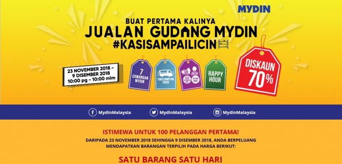 Jualan Gudang Mydin - Discount Up To 70%