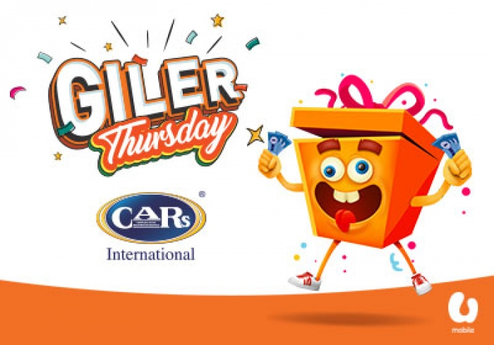 U Mobile's Giler Thursday deals! Wash your car for only RM1 with CARs International