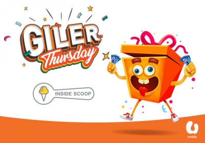 U Mobile's Giler Thursday offers 1 scoop of ice cream from Inside Scoop for only RM1