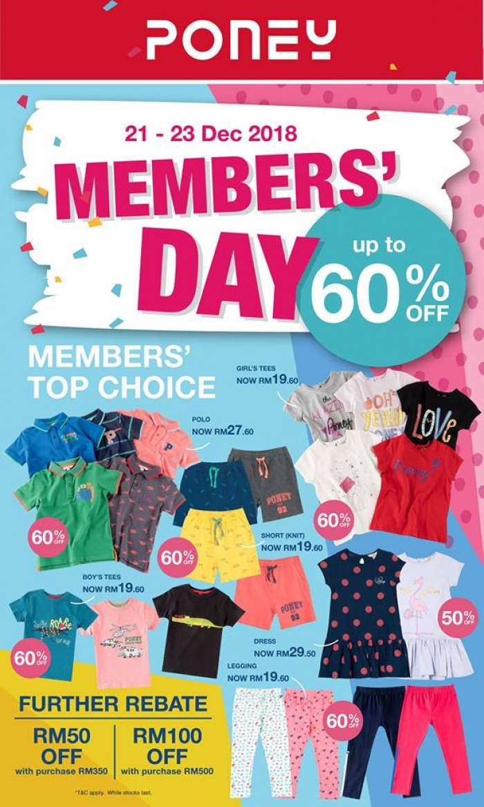 Poney Members Day - Up To 60% OFF