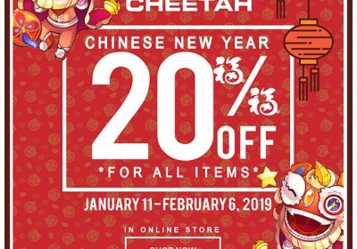 Cheetah Chinese New Year Offer - 20% OFF All Items