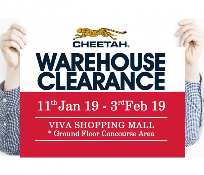 Cheetah CNY Warehouse Clearance Sales 2019
