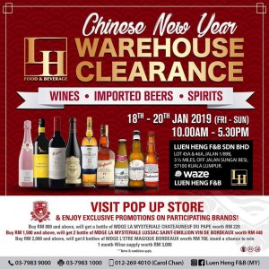 Luen Heng CNY Warehouse Clearance 2019