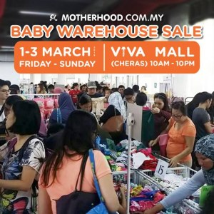 Baby Motherhood Warehouse Sales Starting From RM1 ONLY