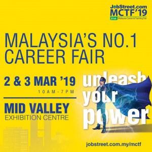 21st Malaysia Career & Training Fair - Jobstreet.com MCTF 2019