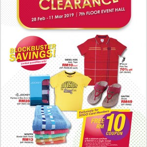 Sogo Department Store Warehouse Clearance Sale