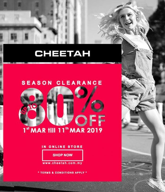 Cheetah Apparel Season Clearance Sale - Up To 80% OFF