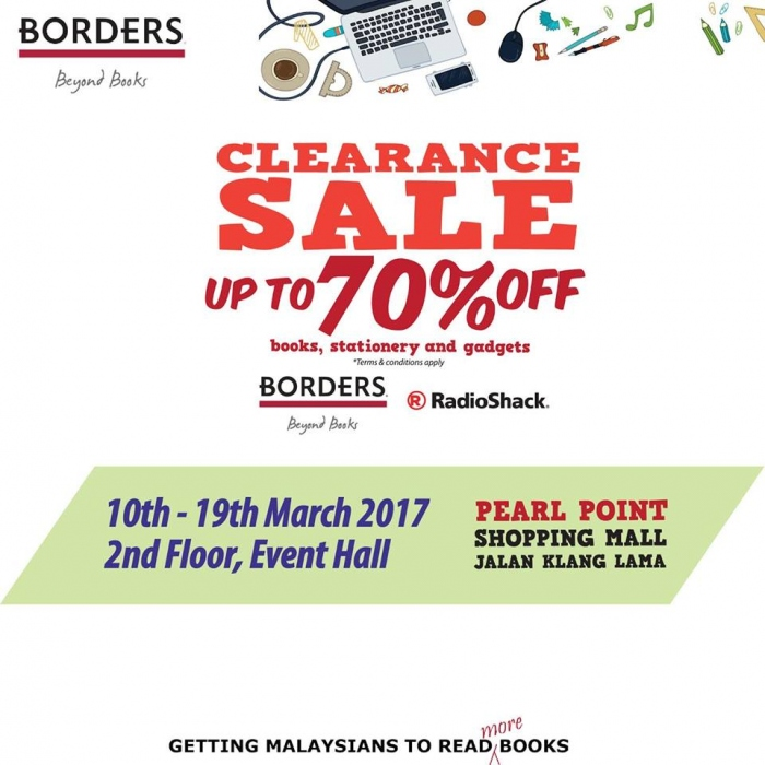Borders & RadioShack Clearance Sale - Up To 90% OFF