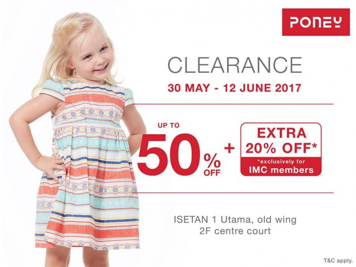 Poney Clearance Fair - 50% OFF + Extra 20% for IMC Members