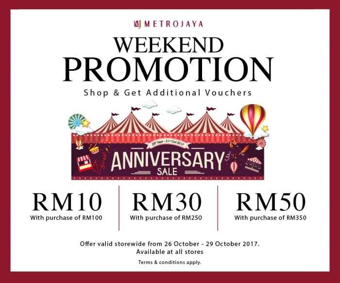 Metrojaya Weekend Promotion - Free Voucher Value Up To RM50