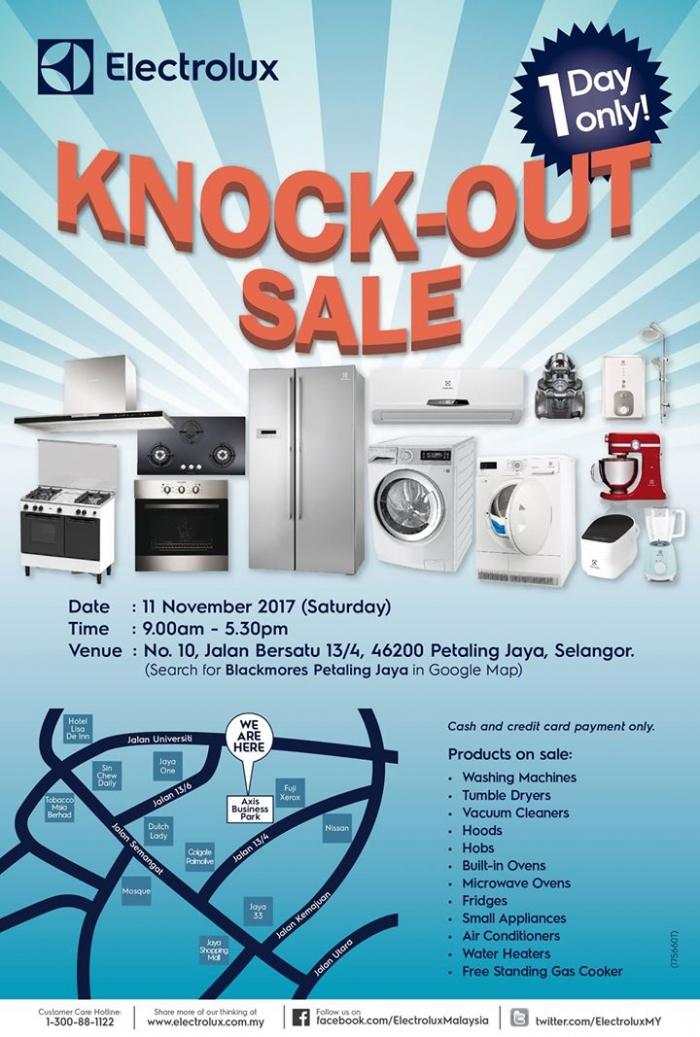 Electrolux Knock-Out Sale - Up To 70% OFF