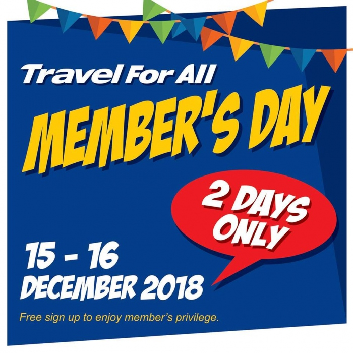 Travel For All Members Day Sale