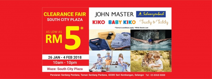 Baby Kiko South City Clearance Fair - As Low As RM5