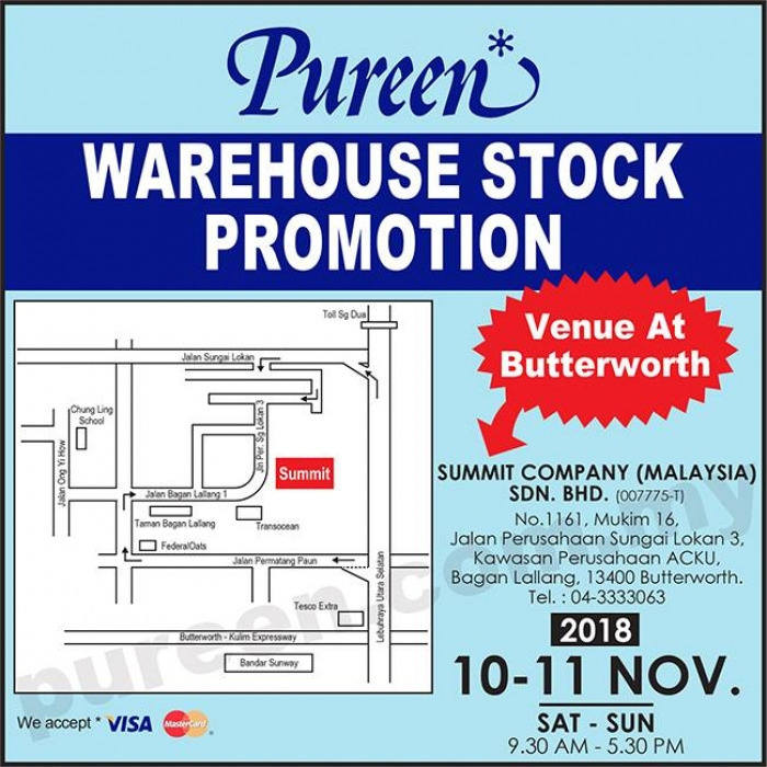 Pureen Warehouse Stock Promotion @ Butterworth