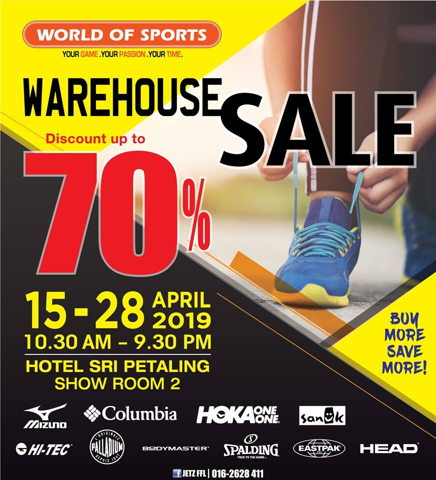 World Of Sports Warehouse Sale - Discounts Up To 70%
