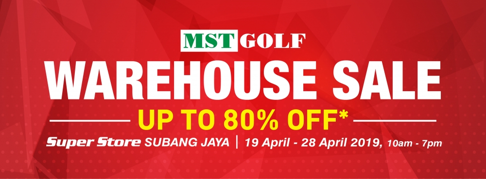 MST Golf Warehouse Sale - Up To 80% OFF