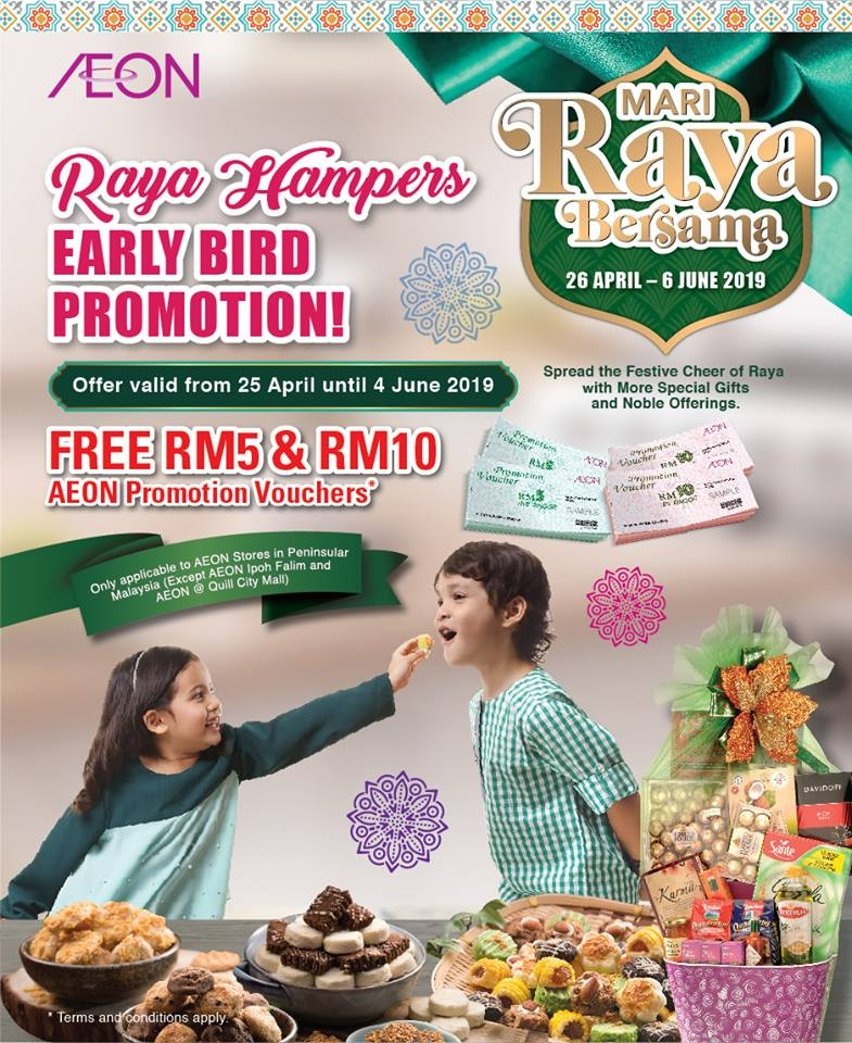 AEON Raya Hampers Early Bird Promotion - Free Voucher