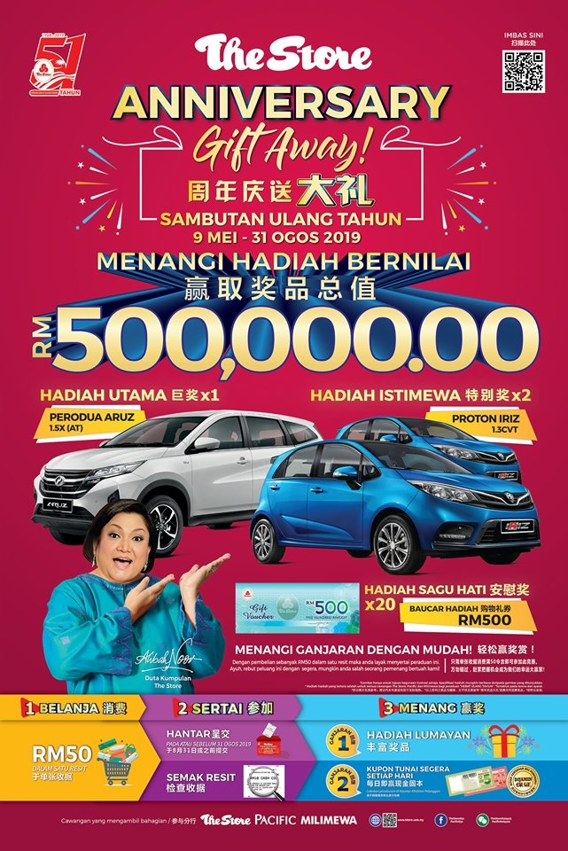The Store Group Anniversary Give-Away - Spend and Win Car & Vouchers