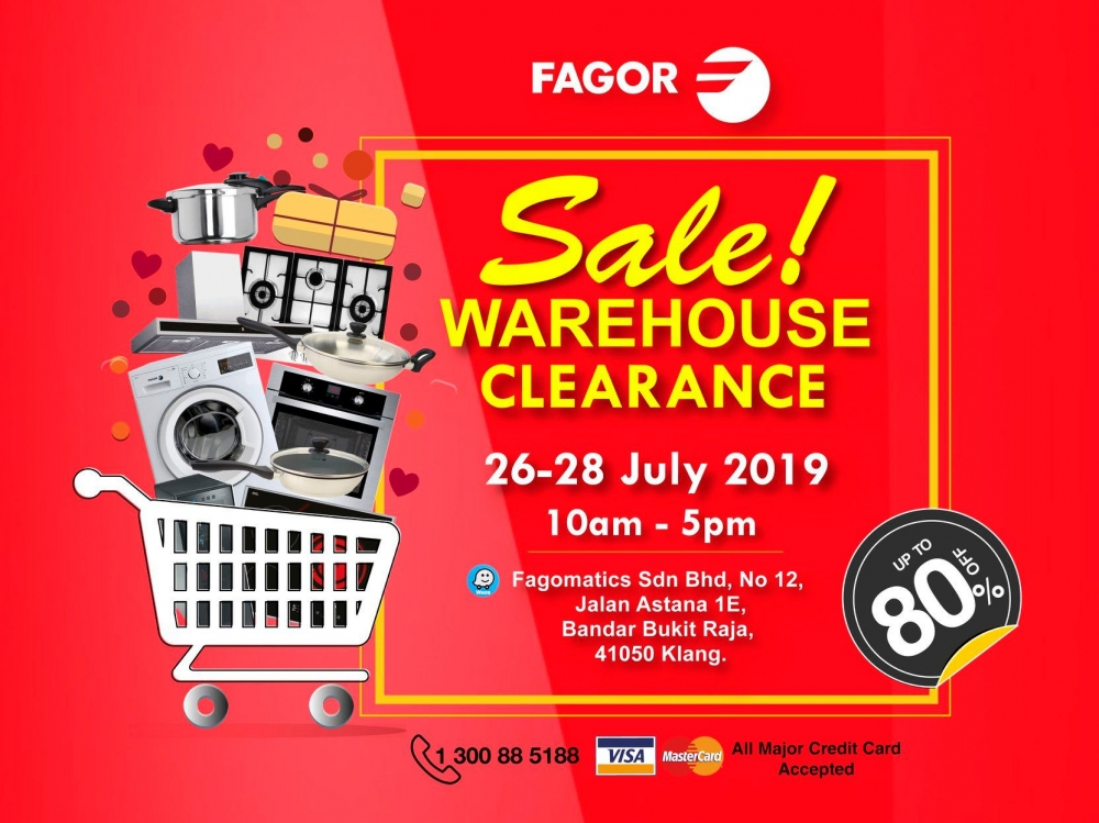 Fagor Warehouse Clearance Sale - Up To 80% OFF
