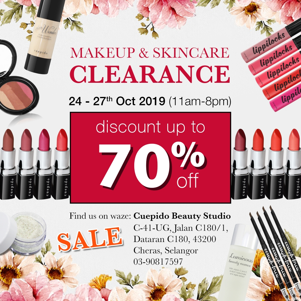 Makeup and Skincare Clearance Sale Up To 70%