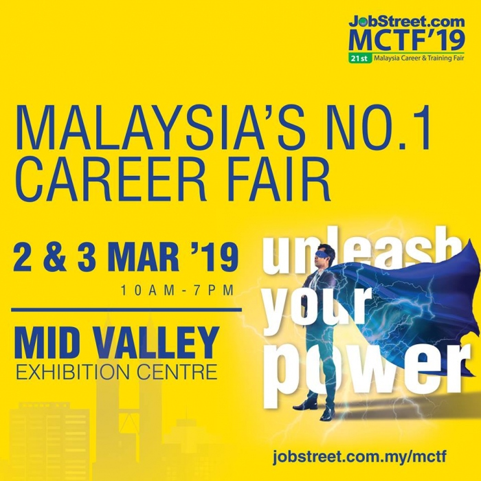 21st Malaysia Career & Training Fair - Jobstreet.com MCTF 2019