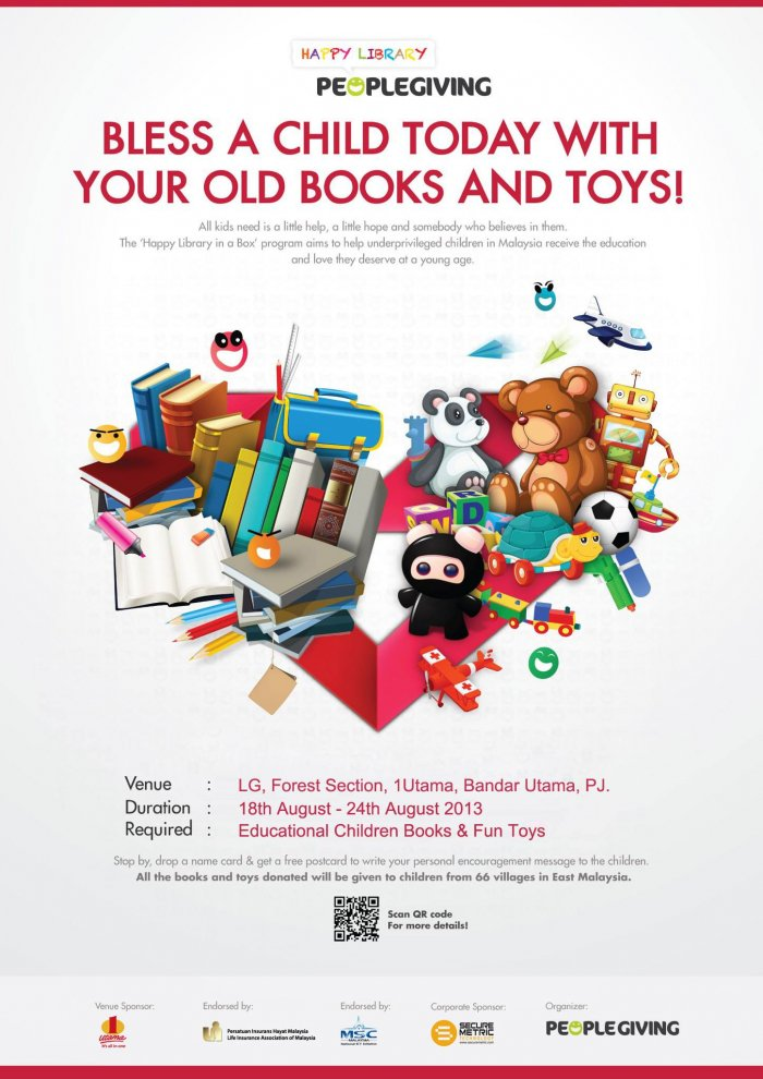 Bless A Child Today With Your Old Books And Toys by PeopleGiving