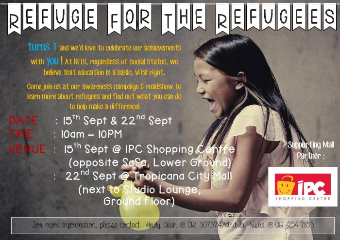 Refuge for the Refugees Awareness Campaign & Roadshow