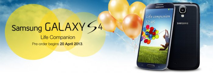 Samsung Galaxy S4 Pre-Order Registration by Digi - from as low as RM1199