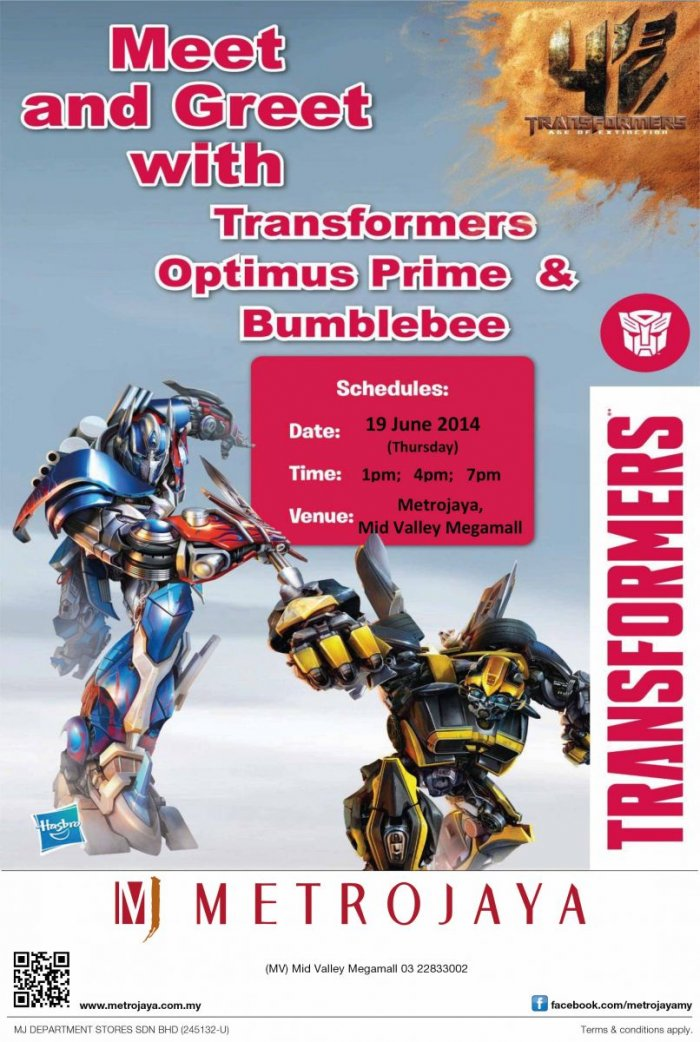 Meet & Greet with Transformers Prime & Bumblebee