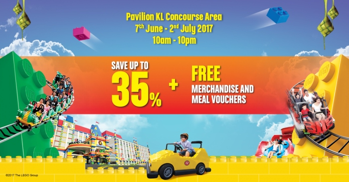 Legoland Ramadhan Roadshow - Up To 35% OFF + FREE Merchandise & Voucher