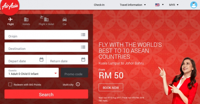 AirAsia ASEAN 50th Anniversary Air Fare Sale - Fly From RM50 All-In-Fare
