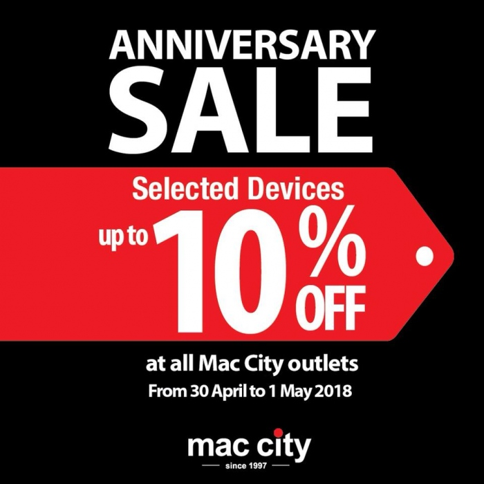 Mac City's 21st Anniversary Lucky + 10% OFF iPhone iPad Mac Products
