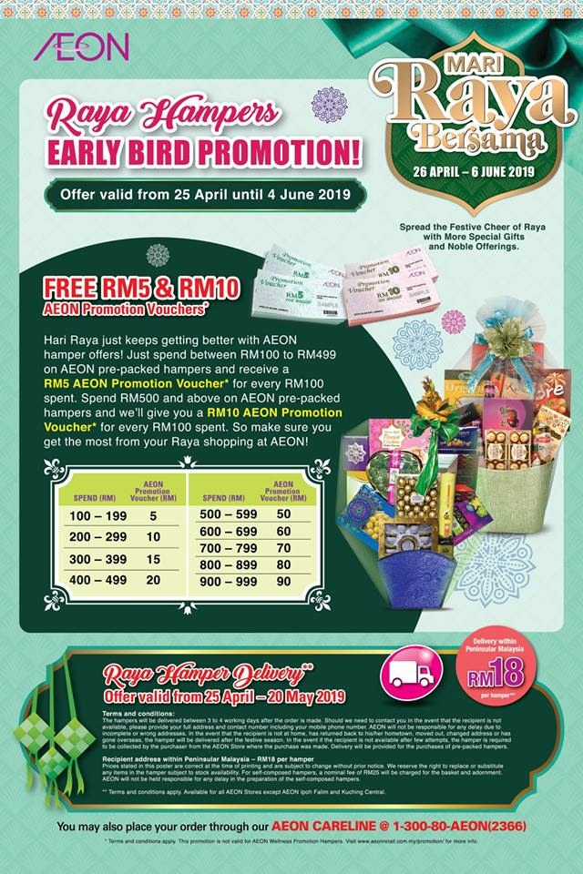 38f2857d8 AEON Raya Hampers Early Bird Promotion - Free Voucher