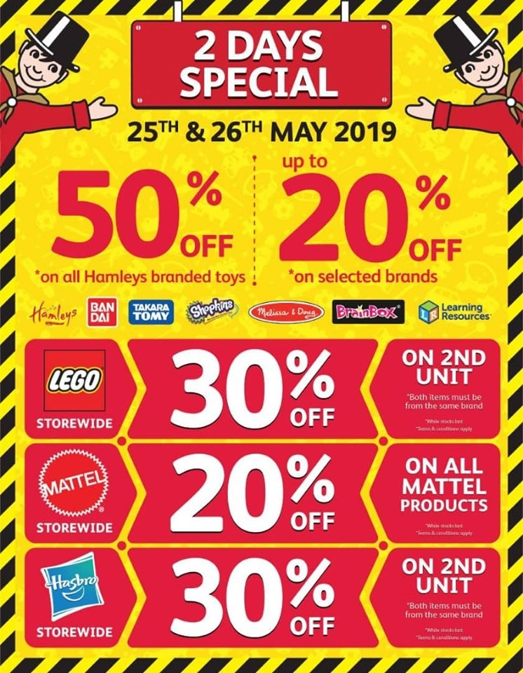 Hamleys 2 Days Special - Discounts Up To 50% OFF