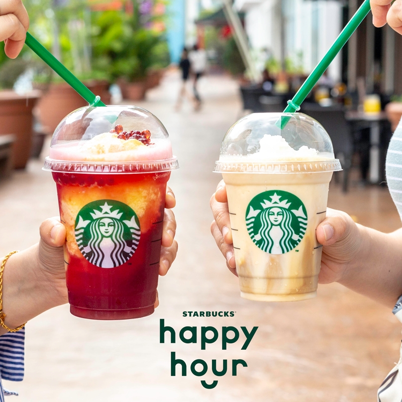 Starbucks Buy 1 Free 1 Happy Hour @ 5pm - 8pm - 1 Day Only