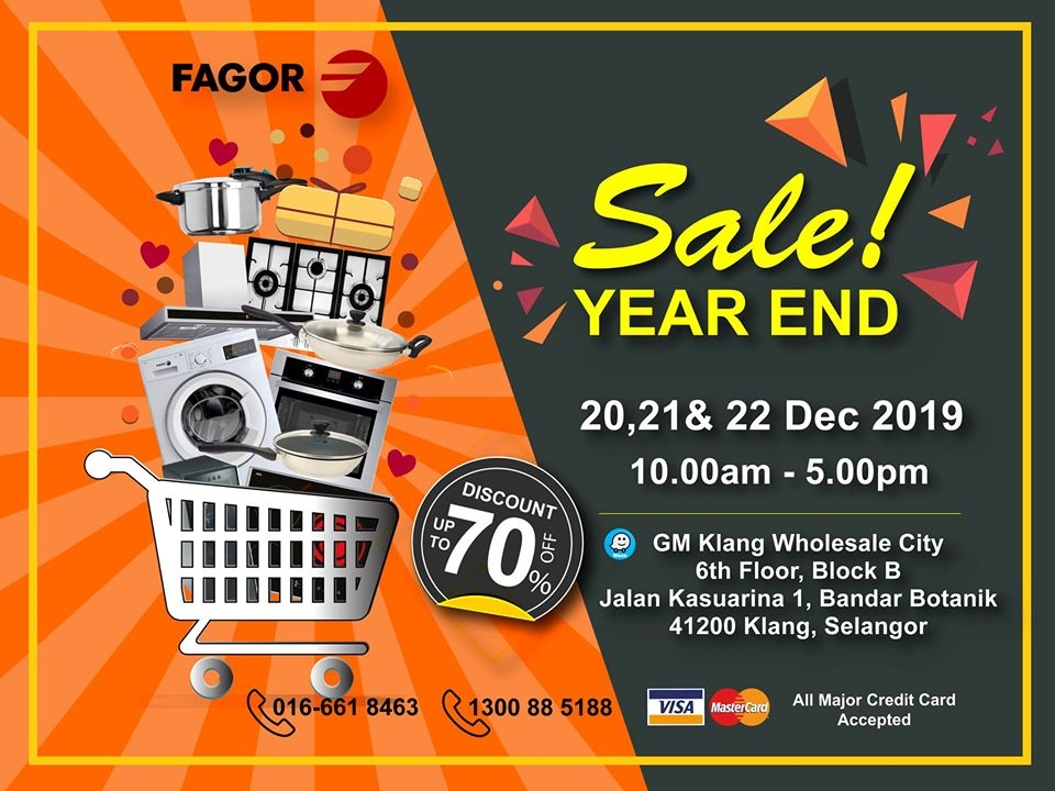 Fagor Year End Sale - Up To 70% OFF