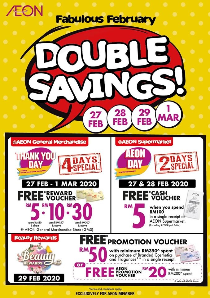 AEON Fabulous February Double Savings - 4 Days Special